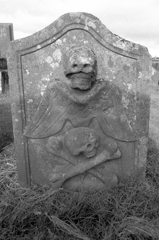 View of grave-stone. Digital image of LA 3769/1