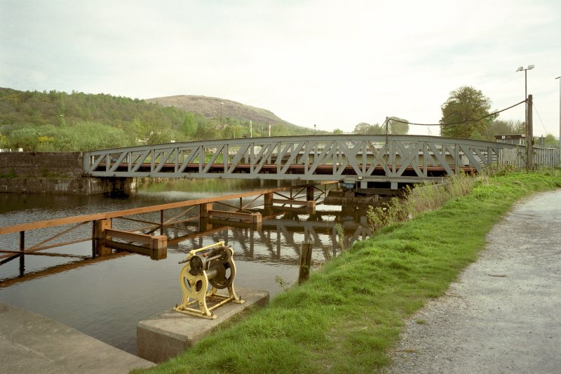 Banavie, Railway Swing Bridge over Caledonian Canal General view from south of south west side of bridge Digital image of D 48389 CN