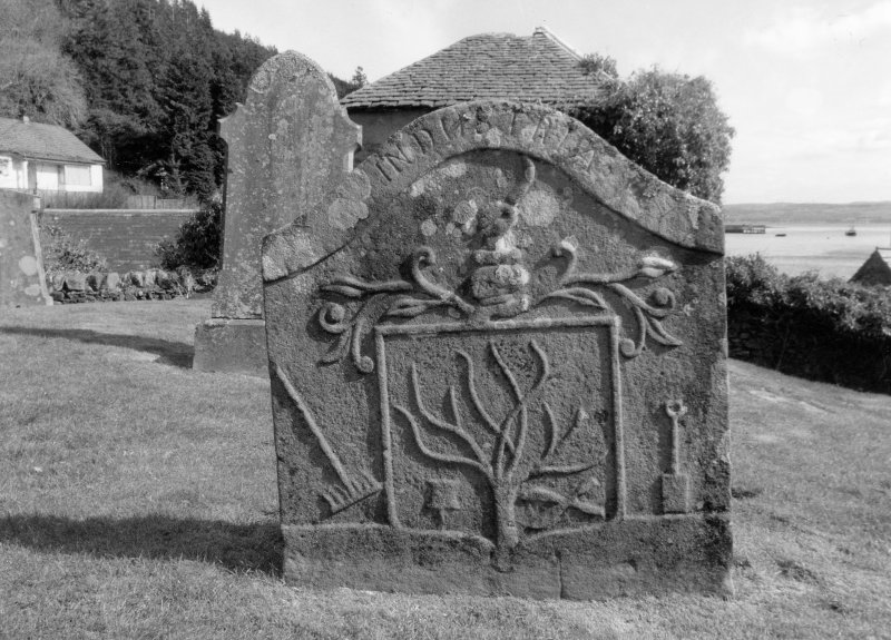 Kilmun Churchyard. Headstone, John McViccar, 1764. Digital image of C 23433/5