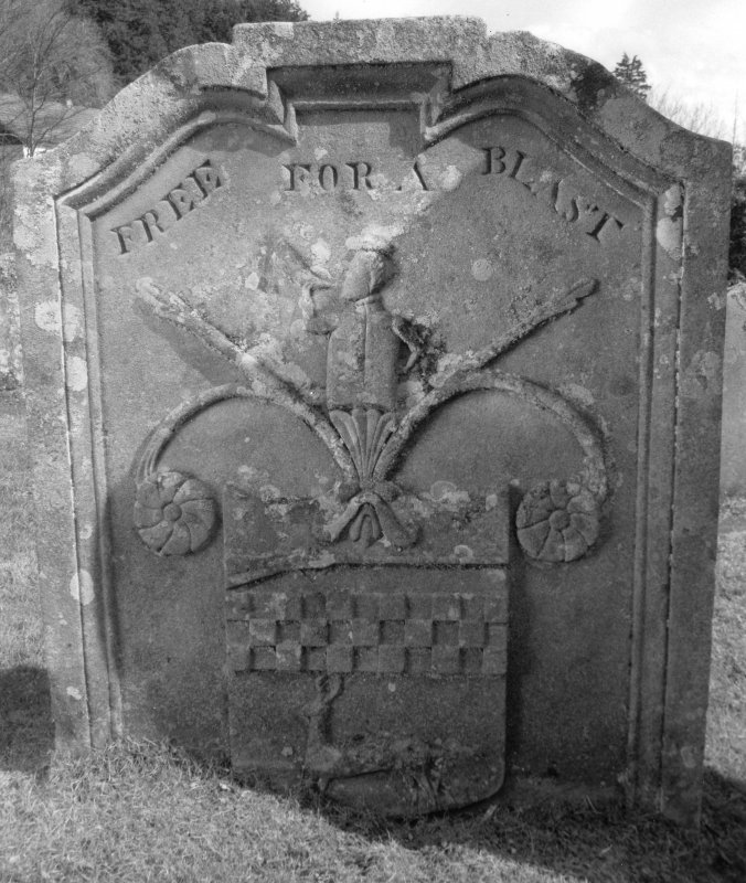 Kilmun Churchyard. Headstone, Neil Clark, 1838. Digital image of C 23433/6