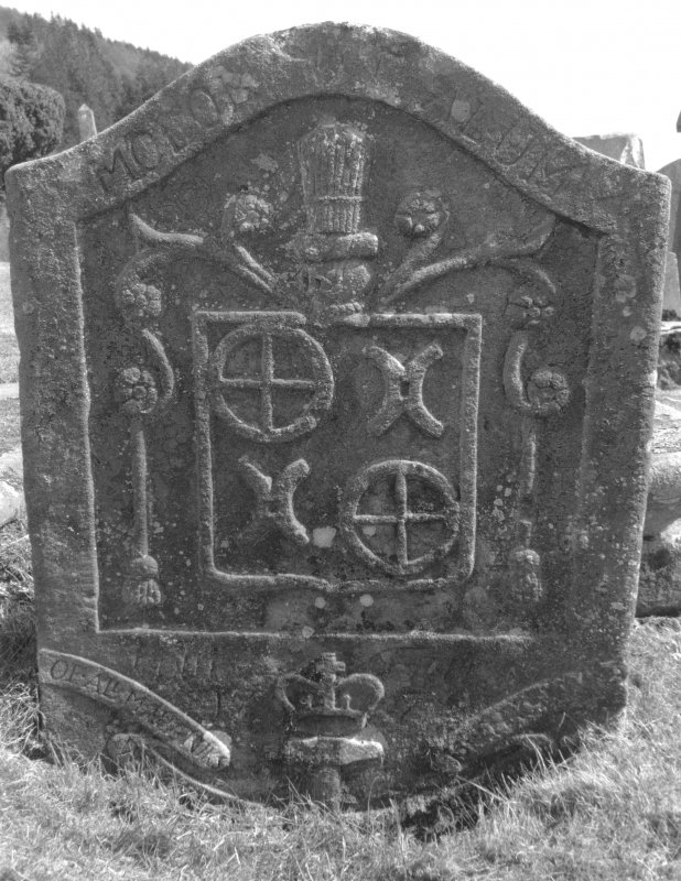 Kilmun Churchyard. Headstone, Christian Hoor, 1772. Digital image of C 23433/4