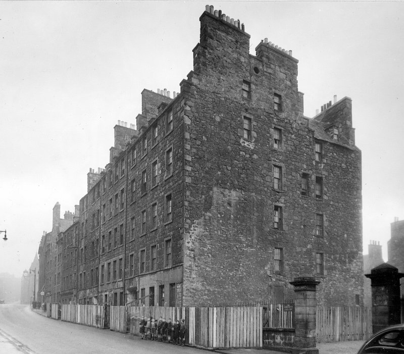 View of 101-121 Canongate, Edinburgh, from E.