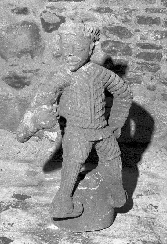 Fyvie Castle. View of carved figure. Digital image of B 7196