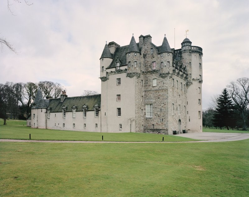 View of Castle Fraser, Aberdeenshire, from WSW. Digital image of C 44101 CN