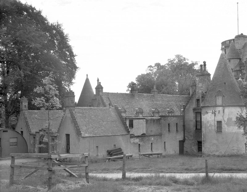 Castle Fraser. View of back portions from NW. Digital image of AB 1327.
