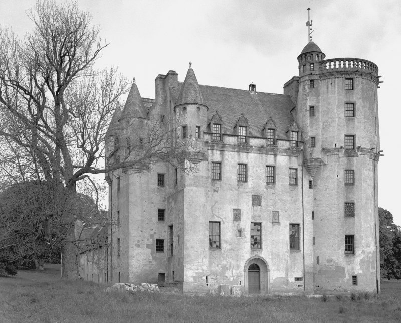 Castle Fraser. View from SSW. Digital image of AB 1325.
