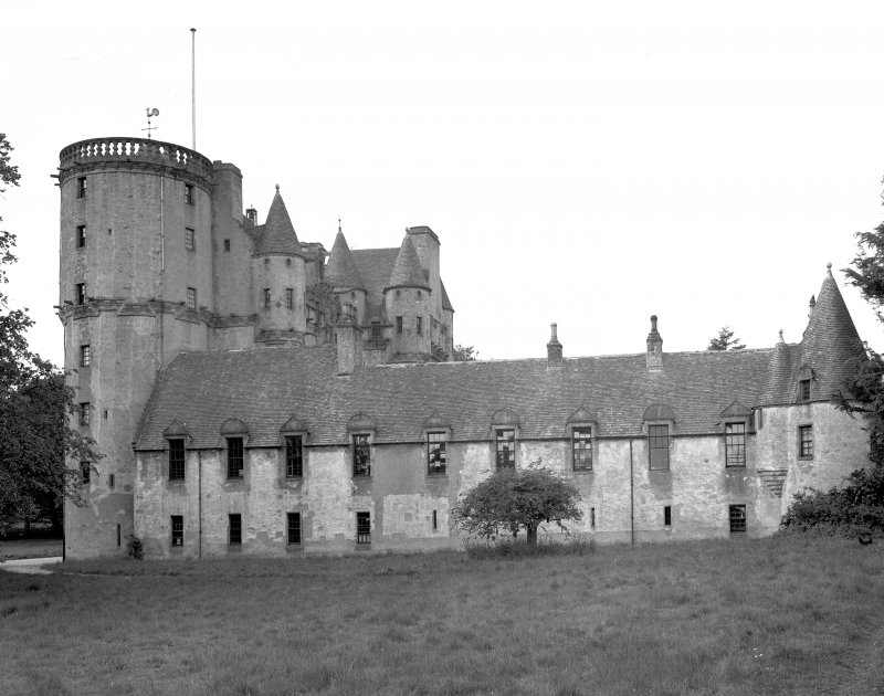 Castle Fraser. View from ENE. Digital image of AB 1326