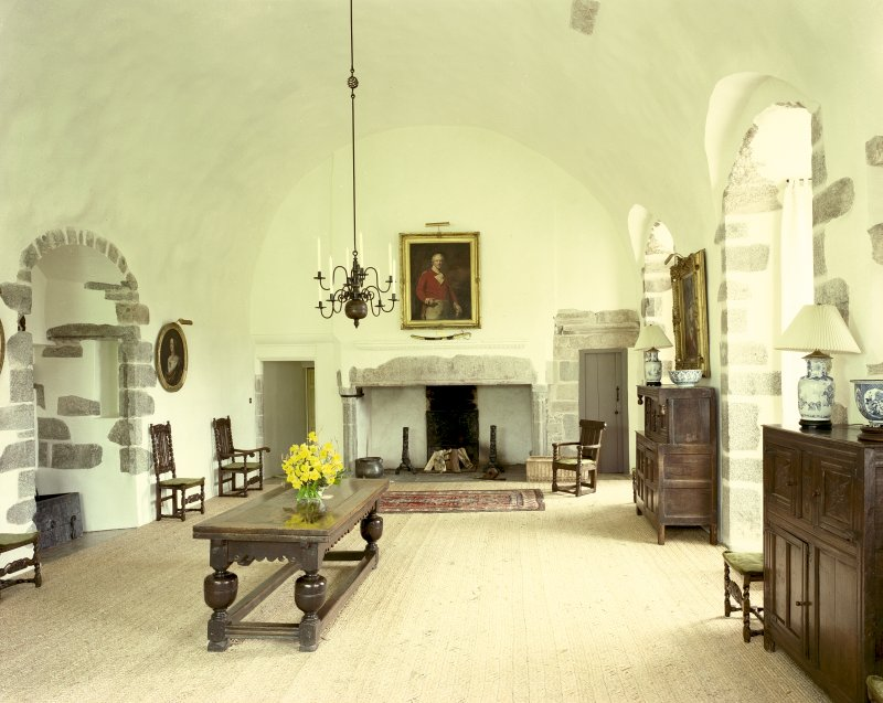 View of Great Hall in Castle Fraser, Aberdeenshire. Digital image of B 18150 CN
