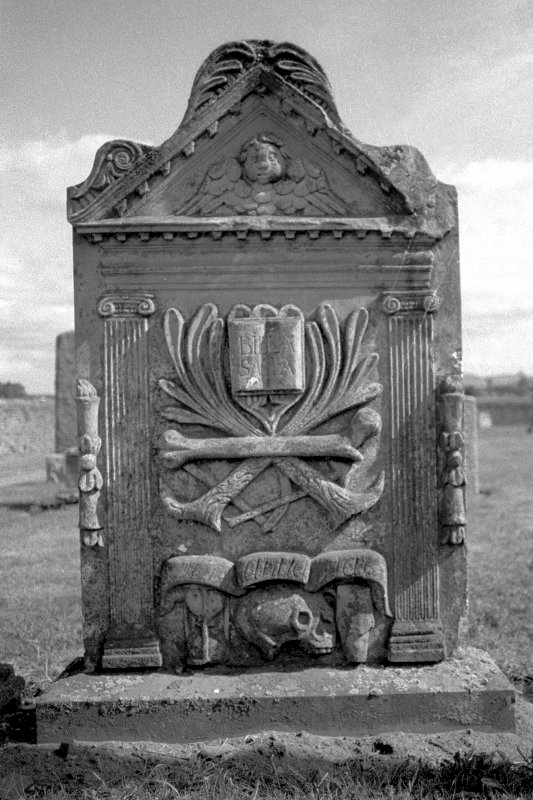 Coupar Angus Abbey Churchyard. Gravestone commemorating Mr Thomas Small, d.1773. Digital image of PT 14742/1