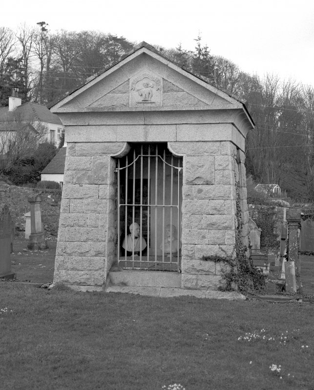 Tongland churchyard. View of mausoleum. Digital image of A 38847