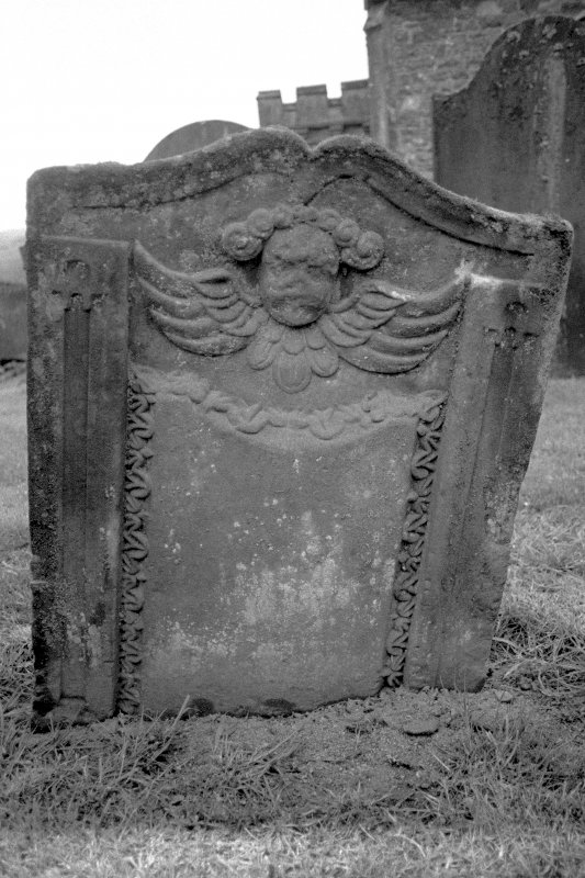 Graveyard. Headstone for Sarah Elder. Digital image of A 7323