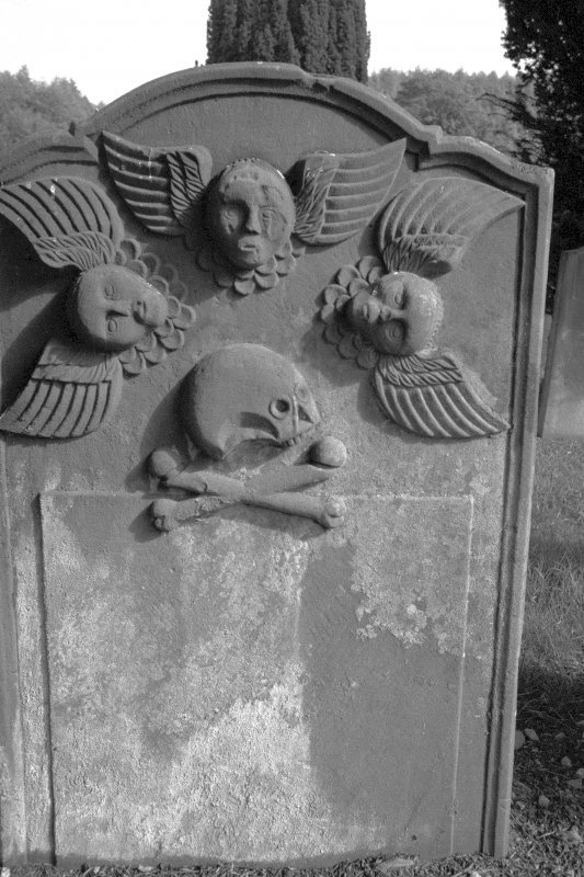 Headstone for the McNish children, 1757. Digital image of B 4180/7.