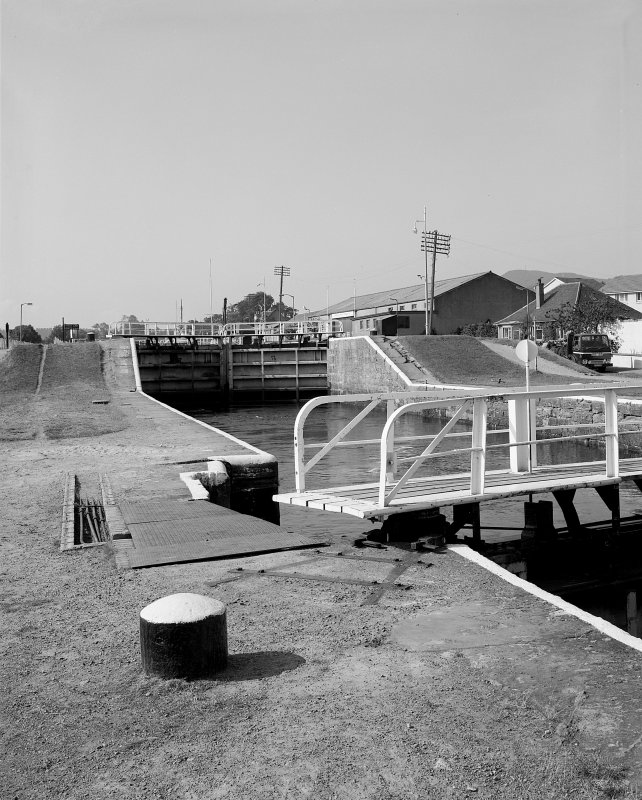 View of Muirtown Locks, lock gates from NE Digital image of A 57636