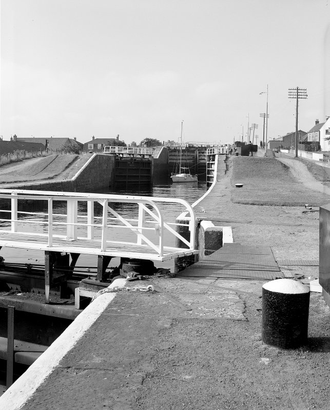 View of Muirtown Locks lock gates from N Digital image of A 57635.