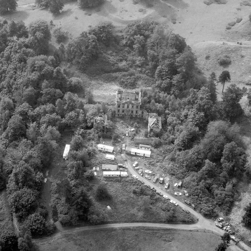 Oblique aerial view of Mavisbank House.