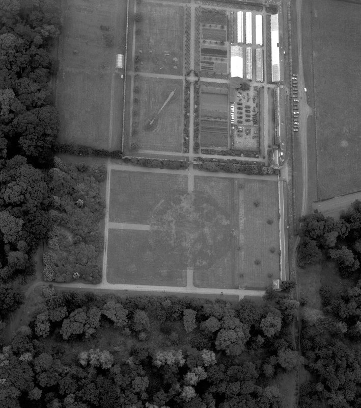 Scan of C/655. Aerial view of formal garden at Floors Castle.