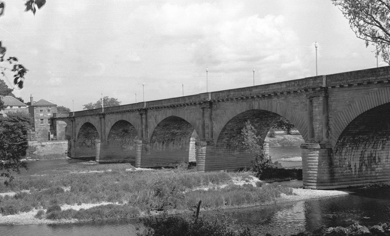 Scanned image of view of bridge from River Tweed.