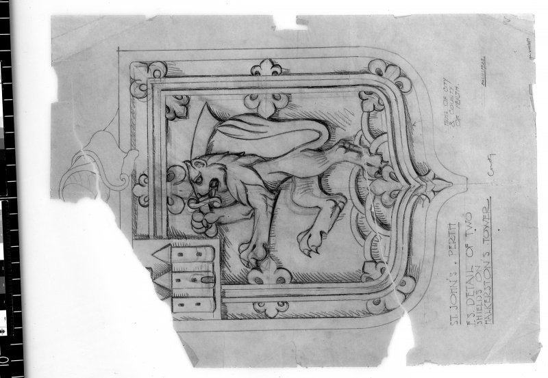 Detail of shield. Scanned image of D 4962.