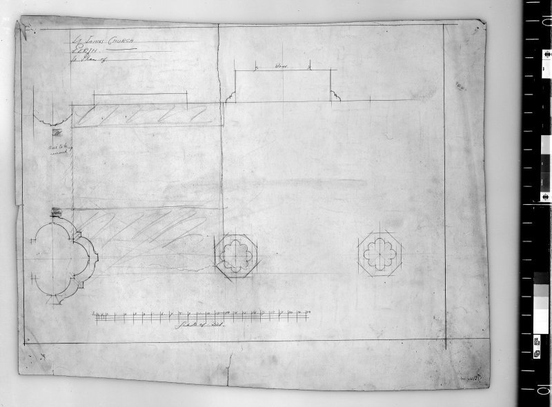 Plan of piers. Scanned image of D 4944.