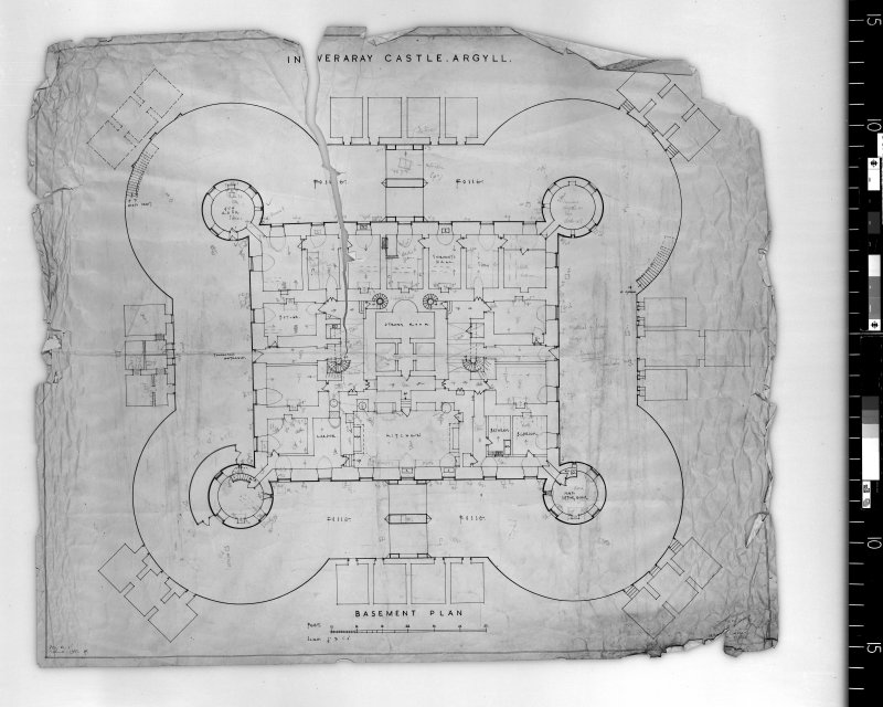 Basement plan. Scanned image of D 4991.