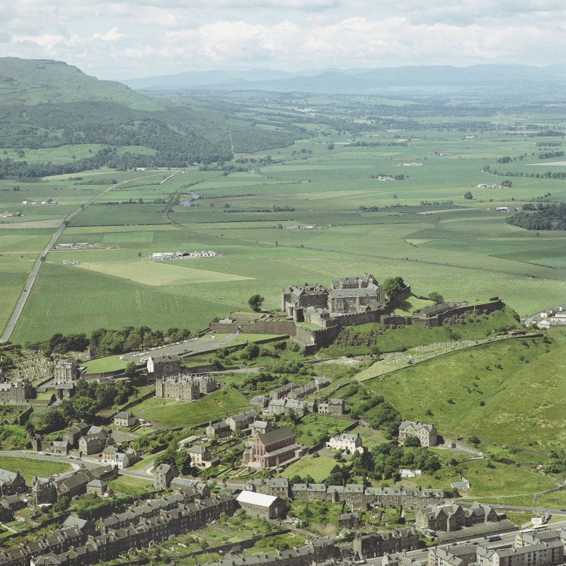 Oblique aerial view of Stirling Castle, taken from the E.