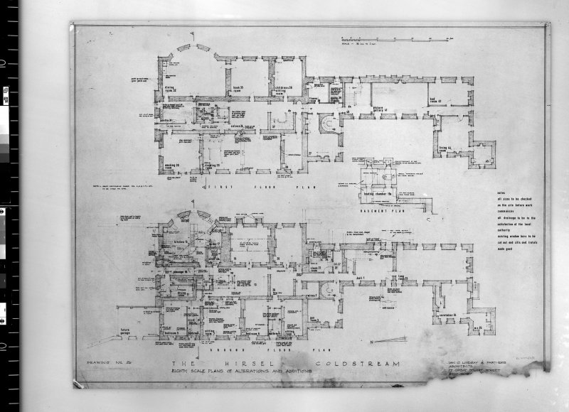Plans showing alterations and additions on ground and first floors.   Scanned image of E 42443.