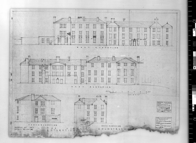 Elevations showing alterations.   Scanned image of E 42501.