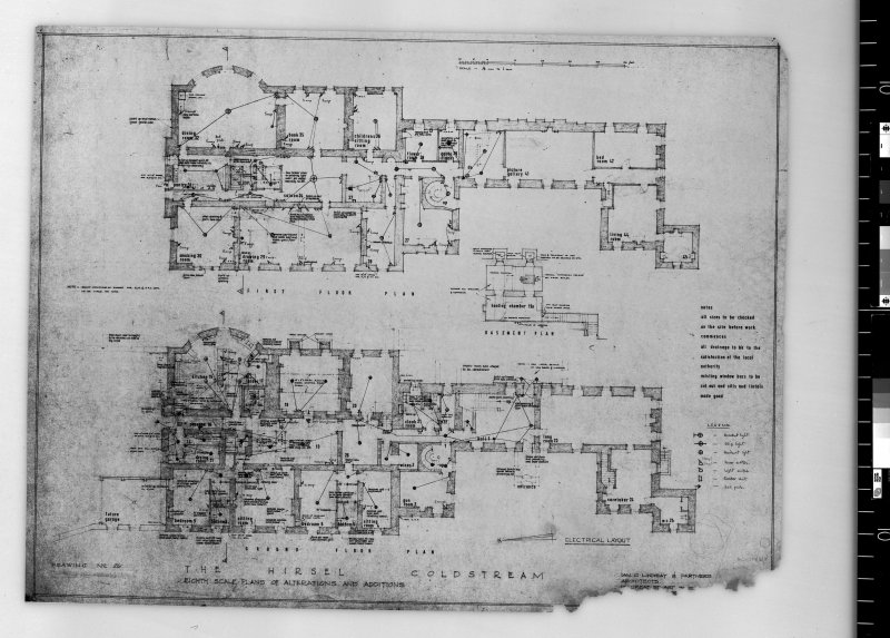 Plans showing alterations to ground and first floors.   Scanned image of E 42442.