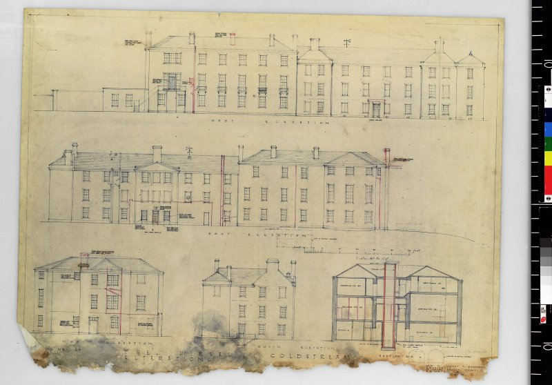 Elevations showing alterations.   Scanned image of E 42412 CN.