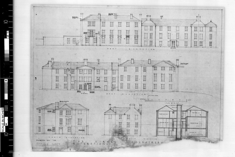 Elevations and section.   Scanned image of E 42441.