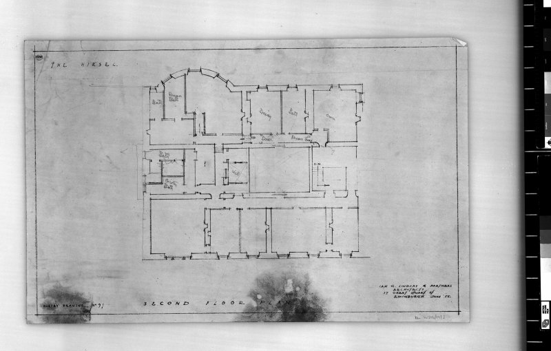 Second floor plan. Scanned image of E 42440.
