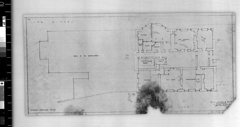 Ground floor plan. Scanned image of E 42433.