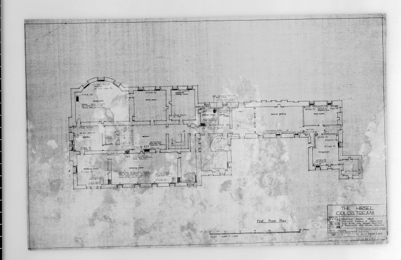 Heating plan for ground floor. Scanned image of E 42509.