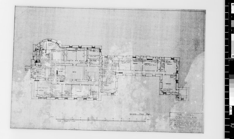Heating plan for second floor. Scanned image of E 42512.