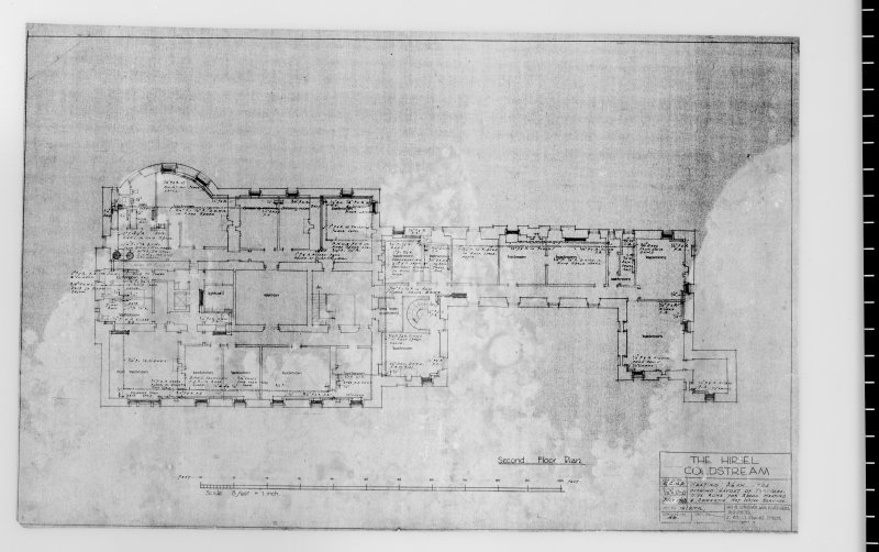 Heating plan for second floor. Scanned image of E 42507.