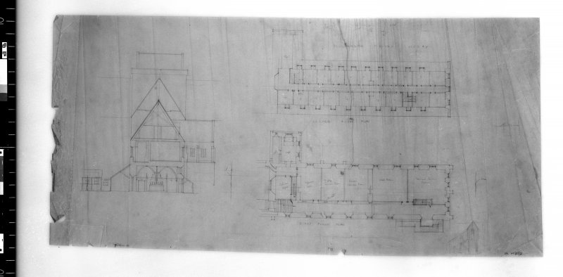Plans and section. Scanned image of D 4905.