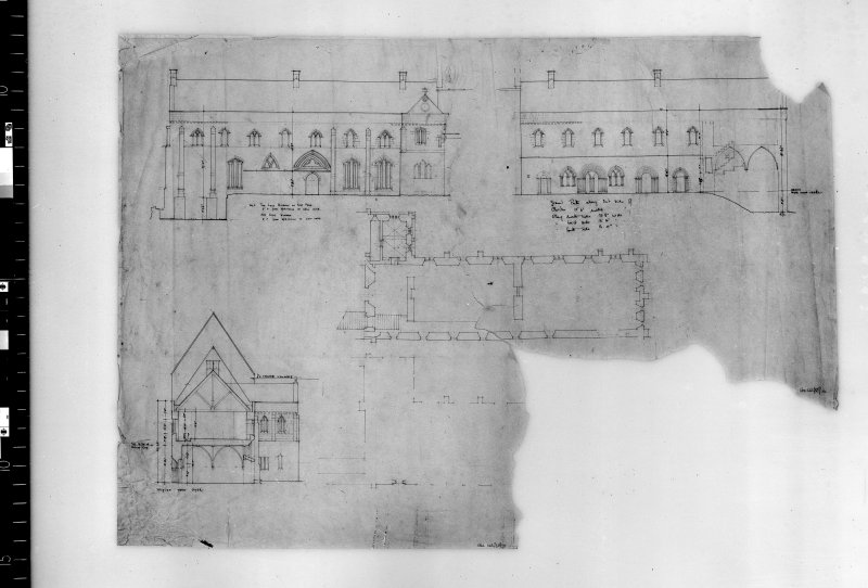Plan, section and elevation. Scanned image of D 4899.