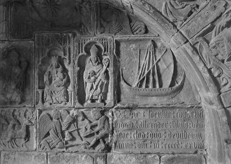 Detail of centre part of the sculptured tomb to Alexander Macleod.