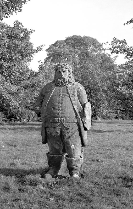 Figure of Falstaff in the grounds of Torrance House, East Kilbride