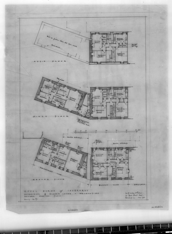 Mackenzie's Land and Black's Land. Sketch plans. Scanned image of E 42761.