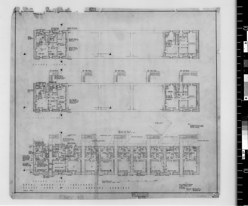 Survey floor plans. Scanned image of E42520.