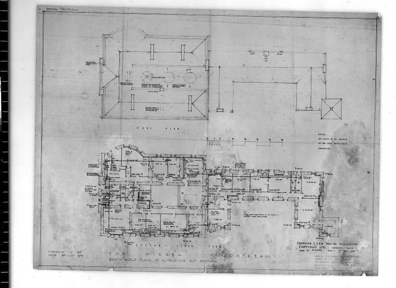 Plans showing additions and alterations. Scanned image of E 42727.