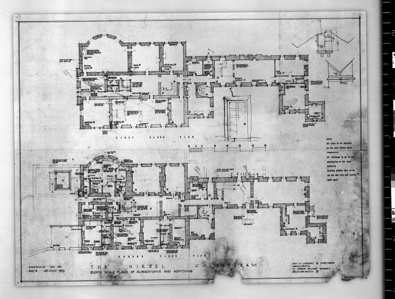 Plans showing additions and alterations. Scanned image of E 42739.
