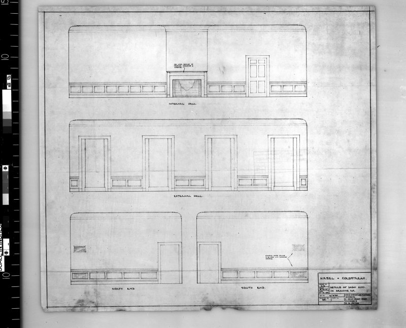 Details of dado rail in drawing room. Scanned image of E 42737.
