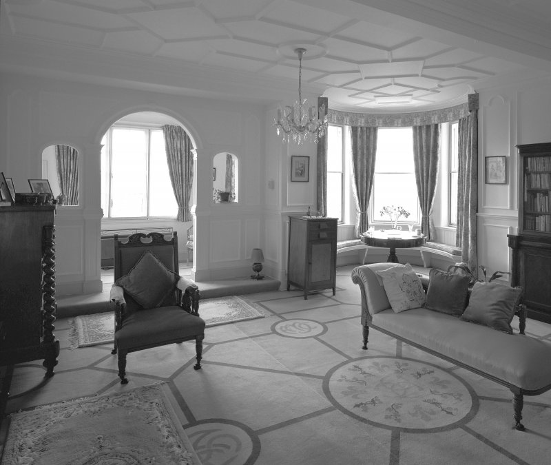 Interior-view of Drawing Room from North East.