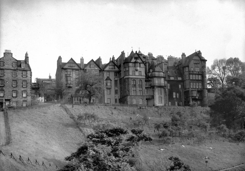 General view of Nos 1-10 from Princes Street Gardens.