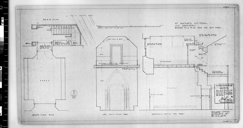Details of stair to new room over South porch, as submitted to City of Aberdeen Buildings Authority.