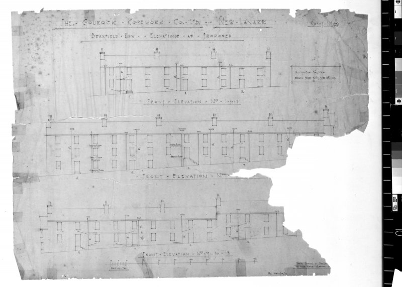 Elevations as proposed for the Gourock Ropework Company Limited.   Scanned image of E 48161.