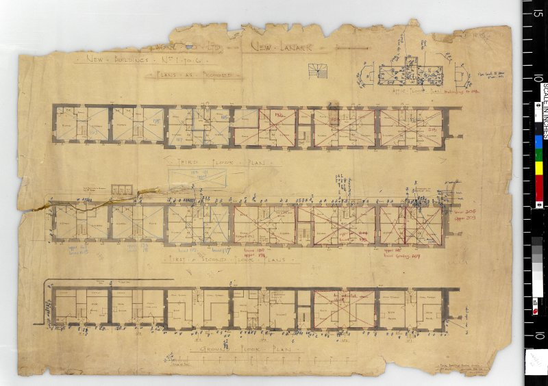 Plans for the Gourock Ropework Company Limited. Scanned image of IGL W610/15/1 [negative number to be supplied].