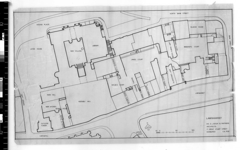 Site plan of the Lawnmarket. Scanned image of E 48138.
